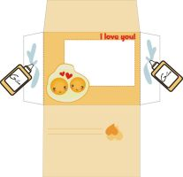 Love between fried eggs I by yfm-stock