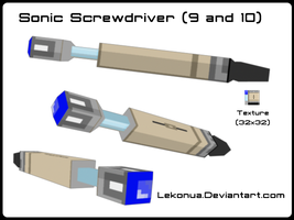 Low-Poly Sonic Screwdriver by Lekonua