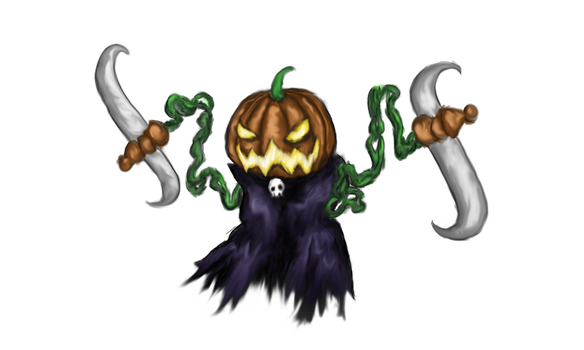 Terraria Pumpking by FancyBucketDraws