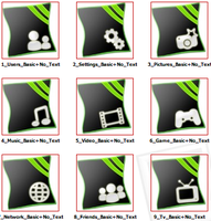 PS3Homerow Iconset Green Pinch by EffECKTz