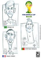 Stars of the FIFA World Cup Brazil by Emerson-Fialho