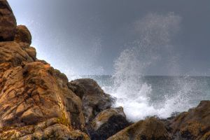 Breaking Surf by lcanady