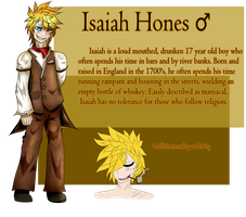 Reference Sheet - Isaiah Hones by witcher-fox