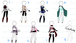Naruto Outfit Adopts 13 (CLOSED) by SpringPeachAdopts