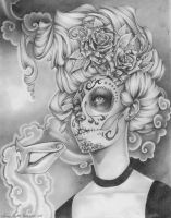 Sugar skull by heartach