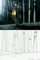 TT - Concept: Rae in the woods by SparkyX