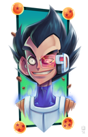 HRH Prince Vegeta of... Vegeta by GhostHause