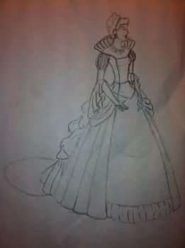 Medieval Queen/Princess Dress (Front) by cclark12