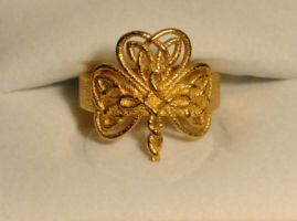 Celtic Knot Shamrock Ring by dfoley75