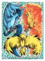 Articuno! Moltres! Zapdos! by PhaseChan