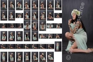 Stock: Foxi Finx Flower HeadDress - 47 Images by modelsource