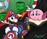 kirby kart by PoisonLuigi