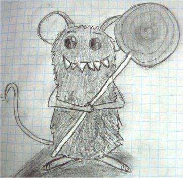Funny rat with the popsicle by Clairei