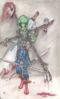 Sha Ray With Weapons by amirila