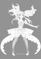 +Lineart Magic Song Nebulosa - Seiun Returns+ by MYKProject