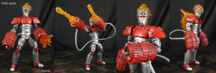 Custom Fire Man Megaman Marvel Legends Figure by Jin-Saotome
