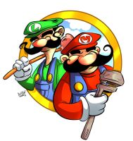 Mario Brothers Commission 2 of 2 by DustinEvans
