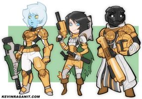 Destiny Ironbanner Chars by KevinRaganit