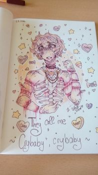 .:PASTEL GORE ATTEMPT:. Cry baby by Drawing-Heart