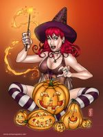 Pumpkin Witch by amanojyaku