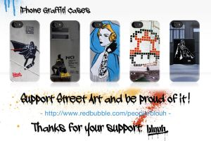 iPhone Graffiti Cases by TheArtofBlouh