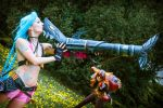 Jinx and Ziggs cosplay by MartyCos-Art