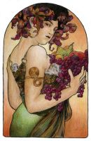 Mucha's Fruit by AnnaSulikowska
