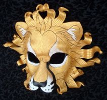 Gold Sun Lion Mask by merimask