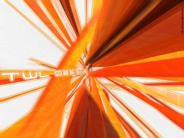 Orange Abstract Wallpaper by PeterTWL