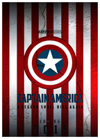 Captain America Movie Poster by hussainadil
