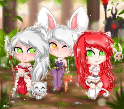 League of Legends Trio Chibis aww by JamilSC11