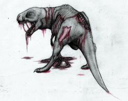 zombie dino thingy by Orkidd