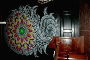 stained glass mandala murals by vankuilenburg