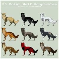20 Pt Wolf Adoptables - CLOSED by Dorchette