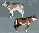 Wolf adoptable 2015-CLOSED by Dolphin-Adopt