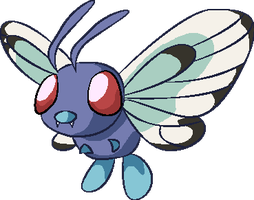 Personnages Libres : 012 Butterfree by Mechamyu