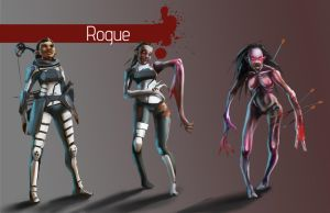 Zombies - Elf Rogue by Shady-Rogue