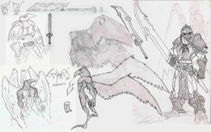 Corax werecrow concepts by jamt1989