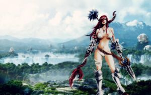 Erza Scarlet - In the valley by Altair-Ezio