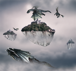 Flight of the dragons by yeril
