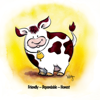 Cow by LezleyDavidson