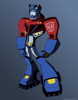 TF:Animated Optimus Prime by KrisSmithDW