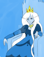 Icey throne room by Hinatagirlie