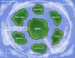 Map of Elysium and World Notes by OtakuEC