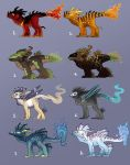Elemental Adoptables by Kyrrahbird