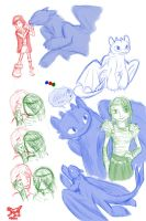 HTTYD-Sketches by shivia-wolf