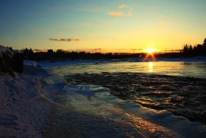 Sunset and Ice 2 by Sagittor