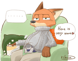 Settle down rabbit. Restless fox. by rikuo-rikuo