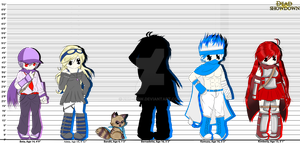 Dead Showdown Character Height Chart by Karate-Hitomi