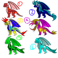 6 Dragon Adopts (OPEN) - 10 Points Each by Frostic-Star